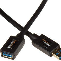 AmazonBasics - Cable alargador USB 3.0 tipo A macho a tipo A hembra