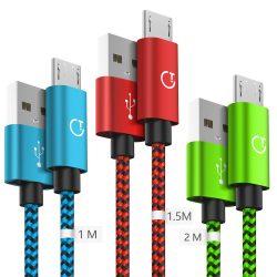 Gritin Micro USB 1M, 1,5M y 2m