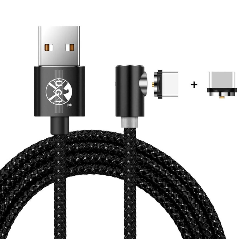 UGI® Cable de Carga USB magnético, 360 Grados, Redondo, magnético, de Nailon